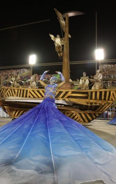Detalhe de ala da Azul e Branca de Madureira