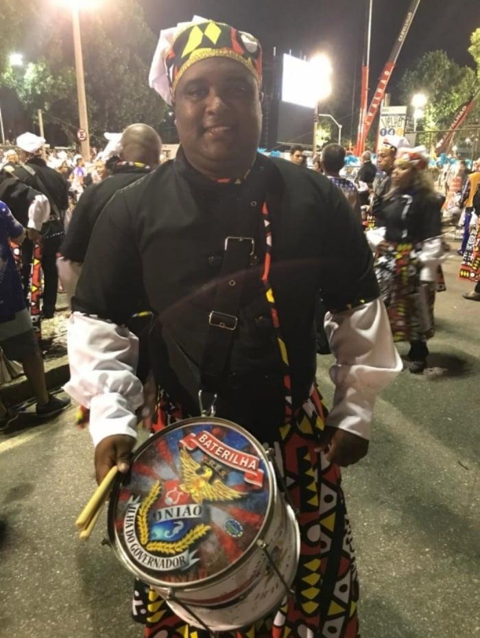 Carlos Luiz Rosa desfila pelo quarta vez na União da Ilha