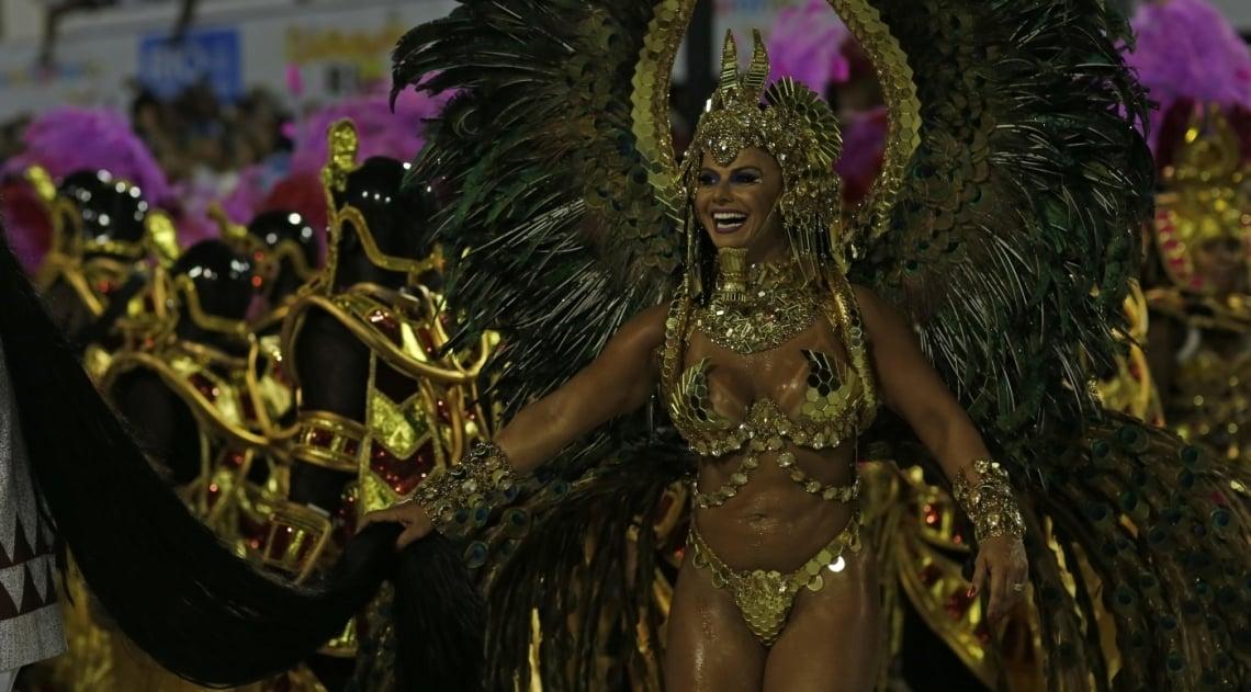 Viviane Araújo conquistou o título de Musa no último Tamborim
