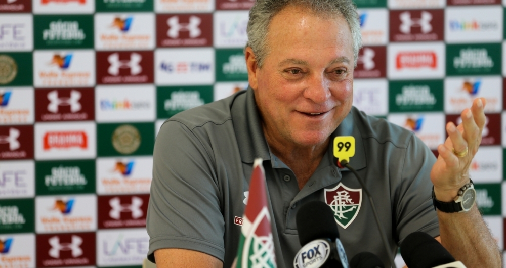 Rio de Janeiro - 14/02/2018 - Barra..Fluminense treina esta manh� no CTPA / Coletiva Abel Braga..FOTO LUCAS MER�ON / FLUMINENSE F.C.. .IMPORTANTE: Imagem destinada a uso institucional e divulga��o, seu uso comercial .est� vetado incondicionalmente por seu autor e o Fluminense Football Club.. .IMPORTANT: image intended for institutional use and distribution. Commercial use is .prohibited unconditionally by its author and Fluminense Football Club.