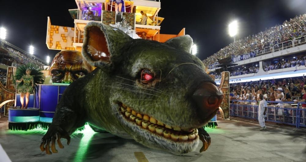 Carnaval 2018 - Desfile das Escolas de Samba do Grupo Especial na Marques de Sapucaí. G.R.E.S. Beija-Flor de Nilópolis