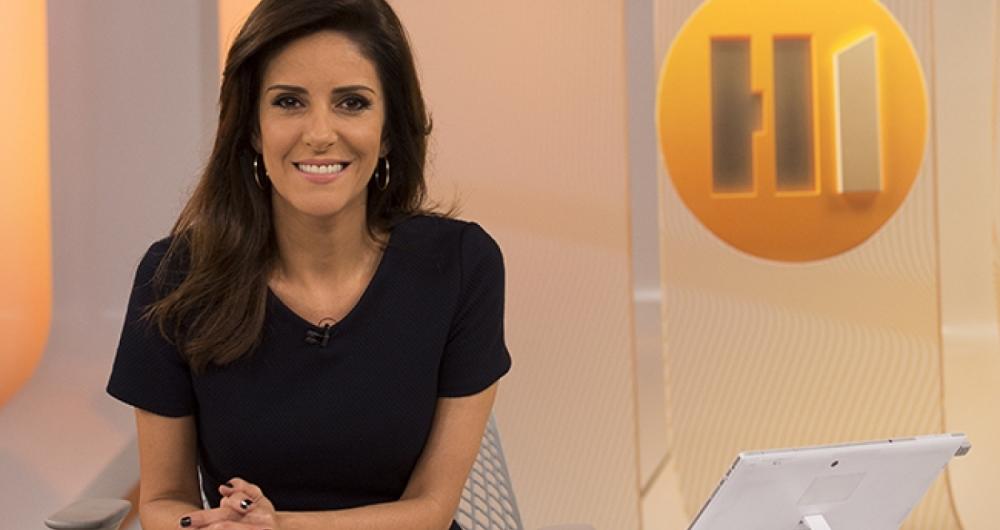 O tempo levou o jornalismo a se tornar o grande neg�cio da TV - na foto, o Hora Um, da Globo