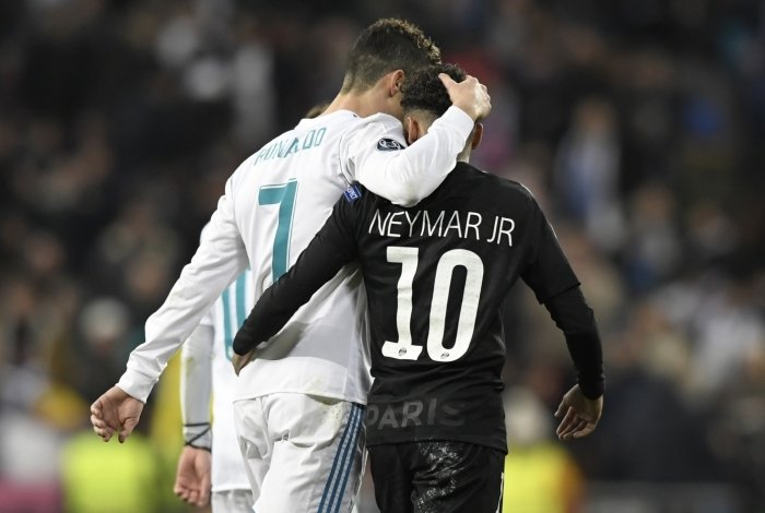 CR7 (na época de Real Madrid) e Neymar.