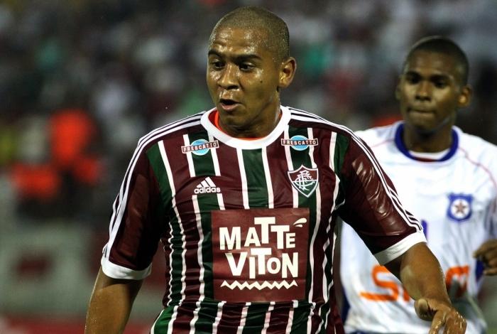 Walter com a camisa do Fluminense