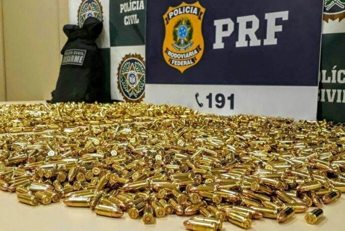Polícia apreende 10 mil munições durante o Carnaval