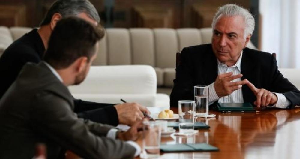 Michel Temer se reuniu com ministros no Pal�cio da Alvorada para discutir situa��o de venezuelanos no Brasil