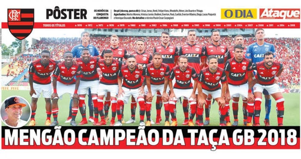 Baixe o pôster do Flamengo campeão da Taça Guanabara