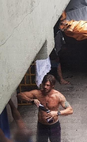 Dado Dolabella na carceragem do 33º Distrito Policial, em Pirituba, São Paulo