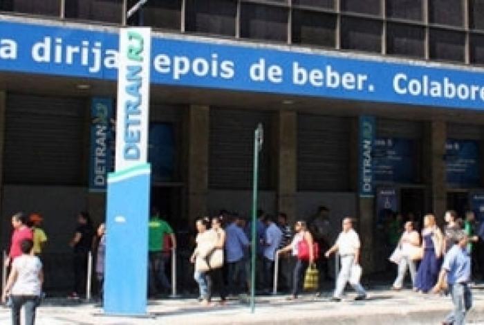 A sede do Detran, no Centro