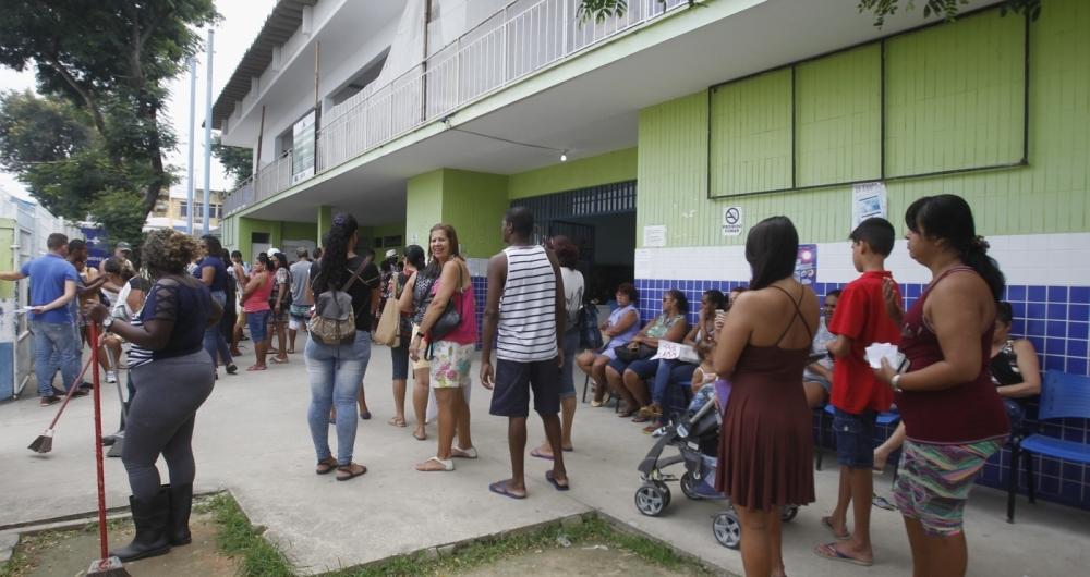 Vacinação contra a febre amarela, posto no Bairro Jardim Meriti, São João de Meriti Baixada Fluminense , Severido  Silva Agencia O Dia