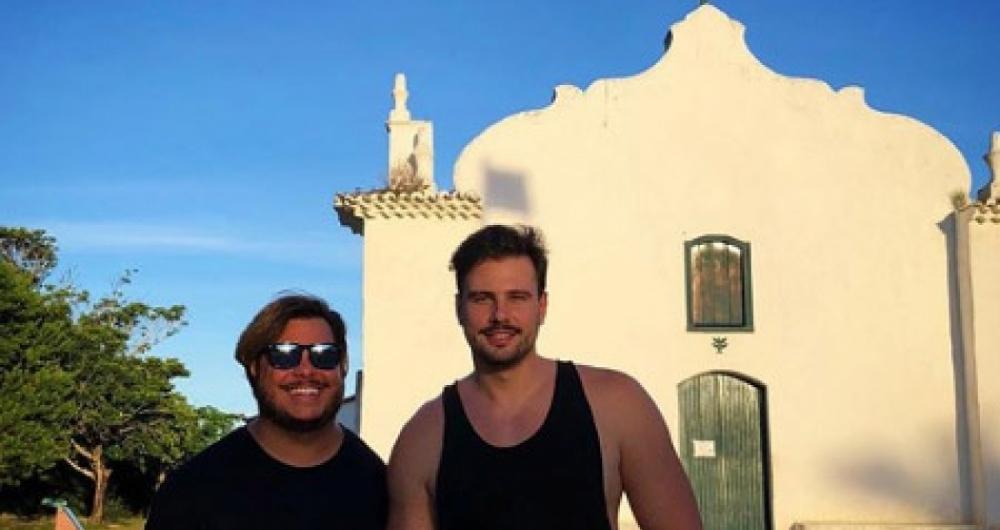 Marcus Majella e o namorado, Anderson Farinelli