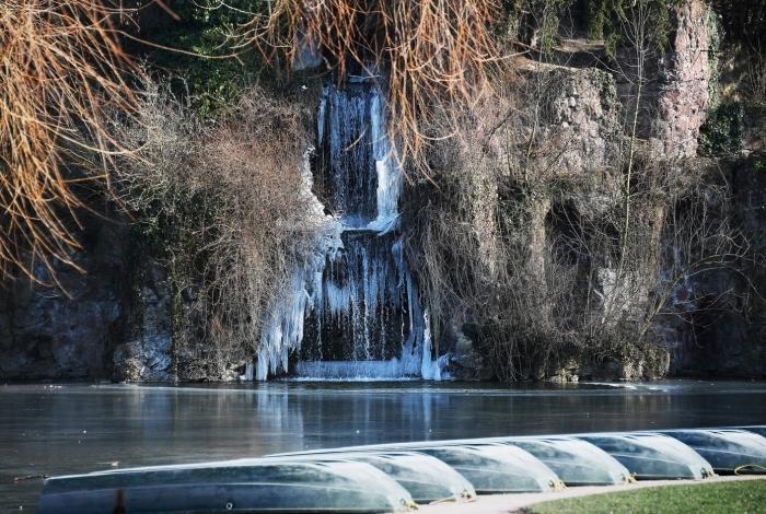 Cachoeira congelada na França