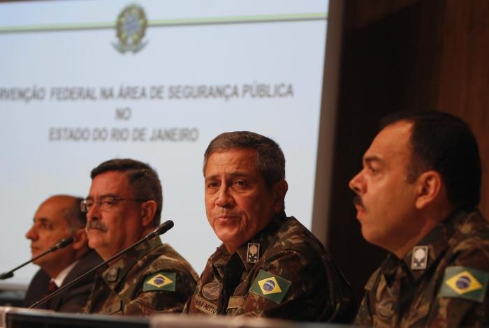 Braga Netto afirma que objetivo da intervenção é 'recuperar a credibilidade' da segurança pública do Rio