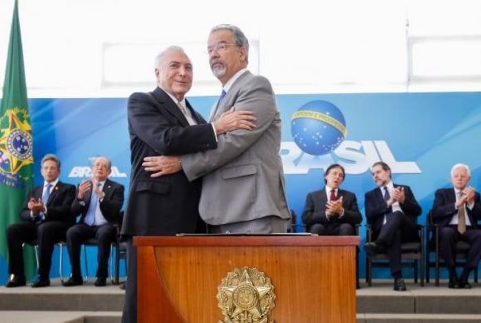 Brasília - Presidente Michel Temer empossa Raul Jungmann no Ministério Extraordinário da Segurança Pública