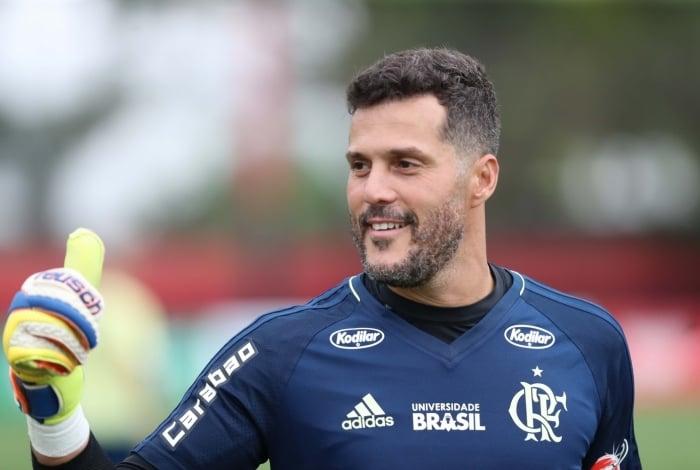 Júlio César é ídolo da torcida do Flamengo