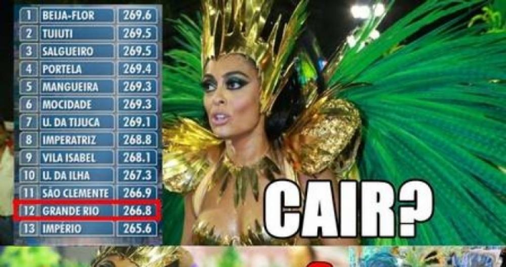 Virada de mesa do Grupo Especial do Rio gera meme nas redes sociais