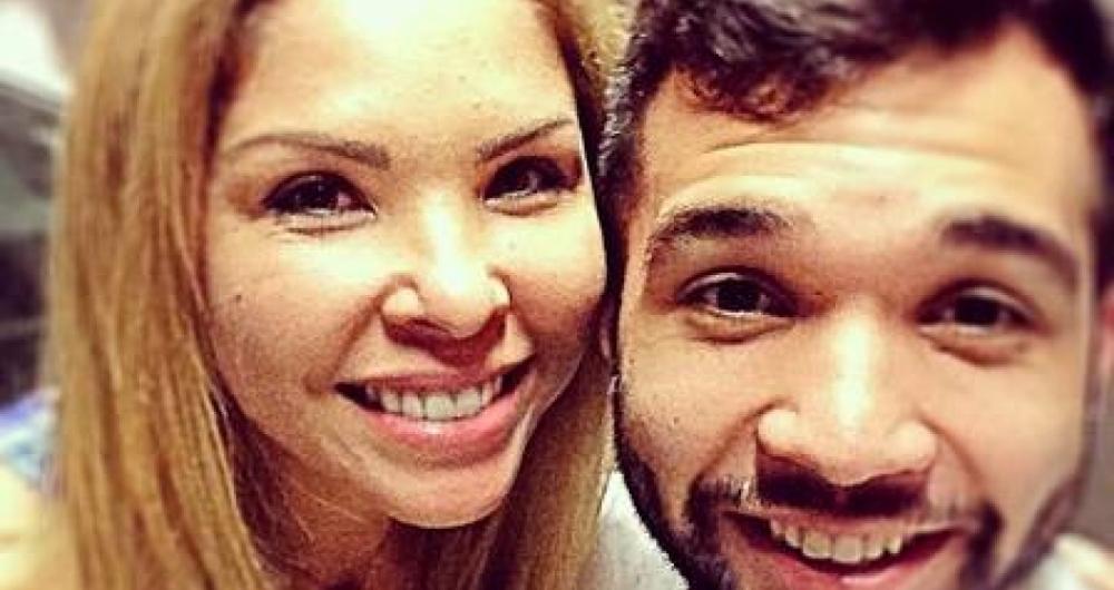 Ver�nica Costa e o filho Jonathan