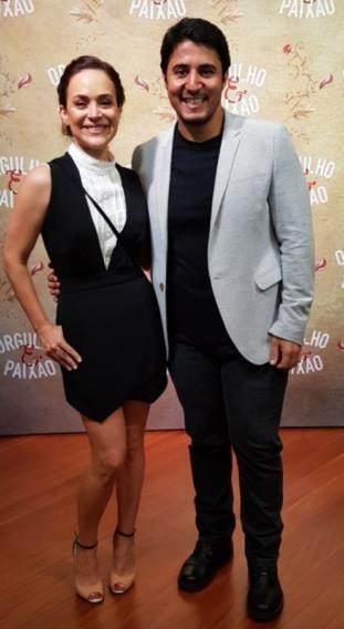 Gabriela Duarte e Herton Gustavo Gratto na coletiva de 'Orgulho e Paixão'
