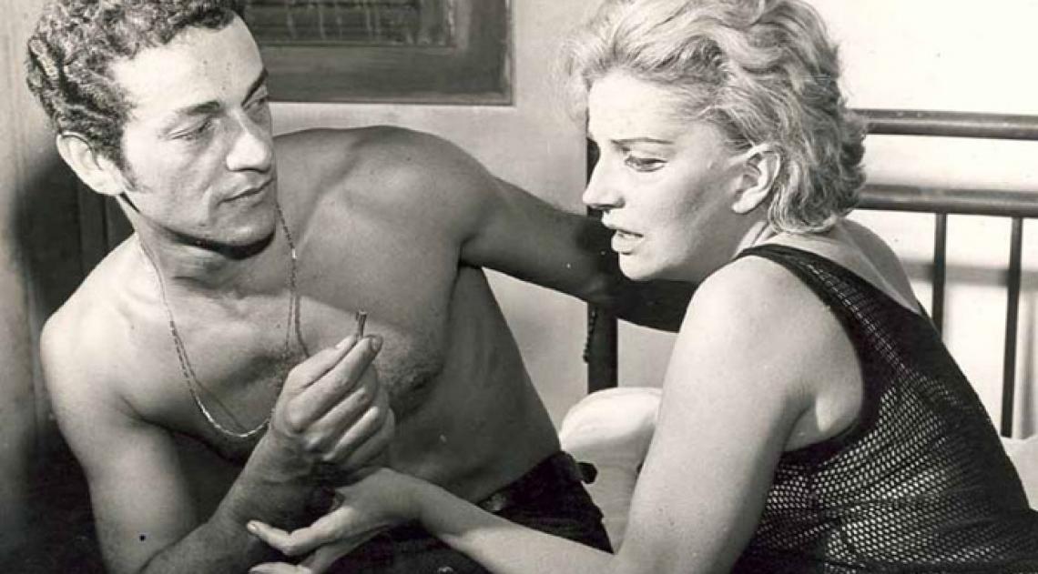 T�nia Carrero com Nelson Xavier em 'Navalha na Carne', de Pl�nio Marcos, em 1968. Filme marcou nova guinada na carreira da atriz