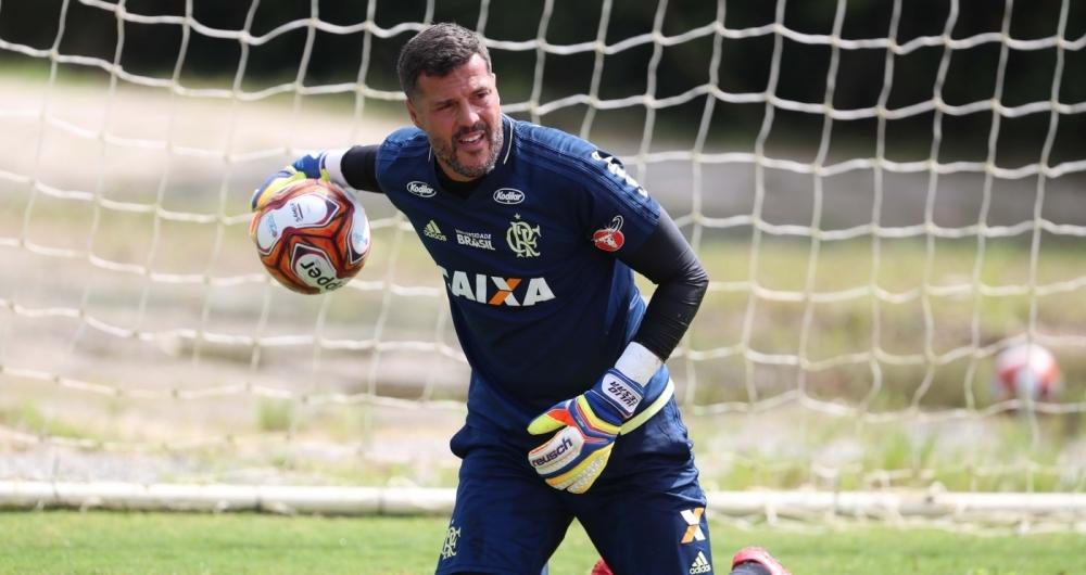 Júlio César reestreia no gol do Flamengo nesta quarta-feira