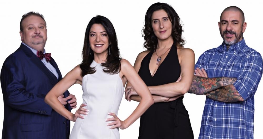 Erick Jacquin (E), Ana Paula Padr�o, Paola Carosella e Henrique Foga�a do 'MasterChef'