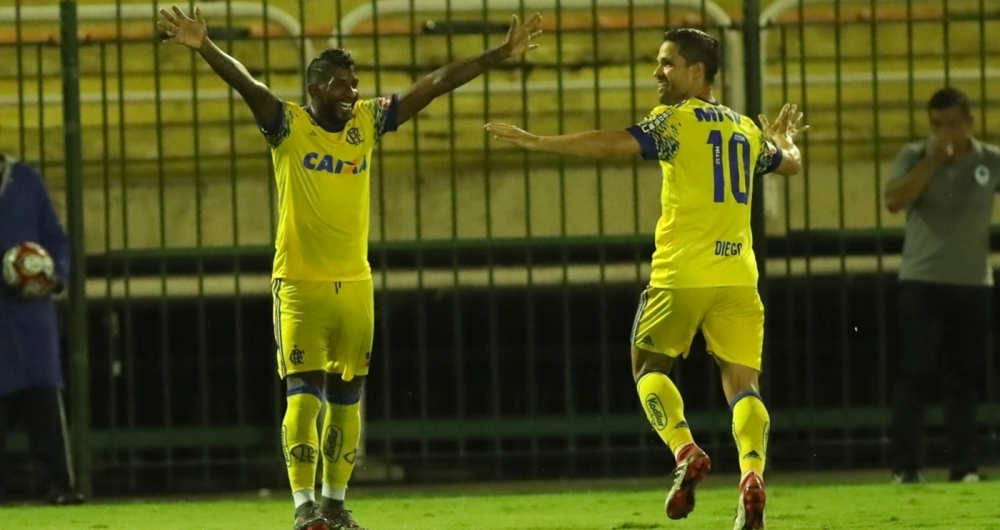 Partida entre Flamengo e Boavista no Estádio Raulino de Oliveira, em Volta Redonda