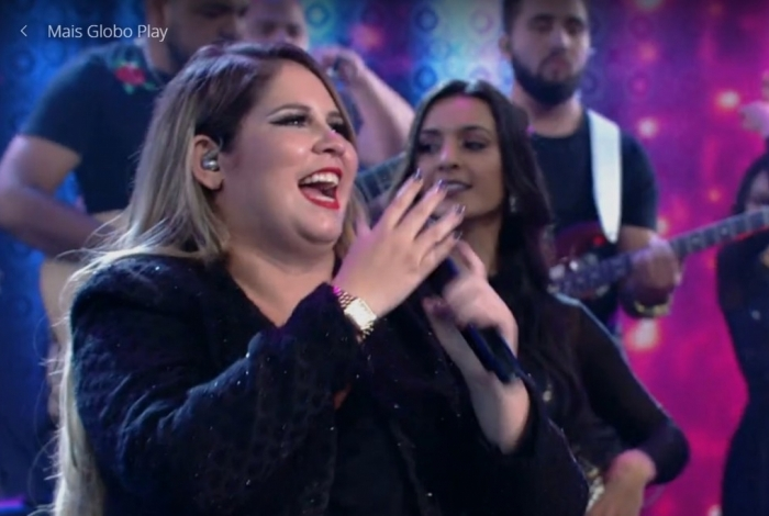 Marília Mendonça no 'Domingão do Faustão'