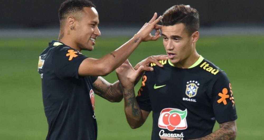 Neymar e Coutinho são destaques da atual seleção brasileira