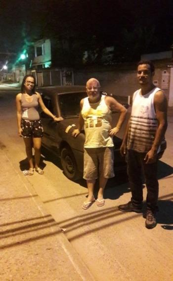 Fabiana, familiares e o Gol 99 de volta para casa: despesa de R$ 1212