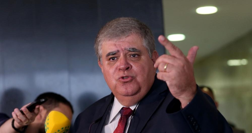 Bras�lia - O ministro-chefe da Secretaria de Governo da Presid�ncia da Rep�blica, Carlos Marun, fala � imprensa o Pal�cio do Planalto