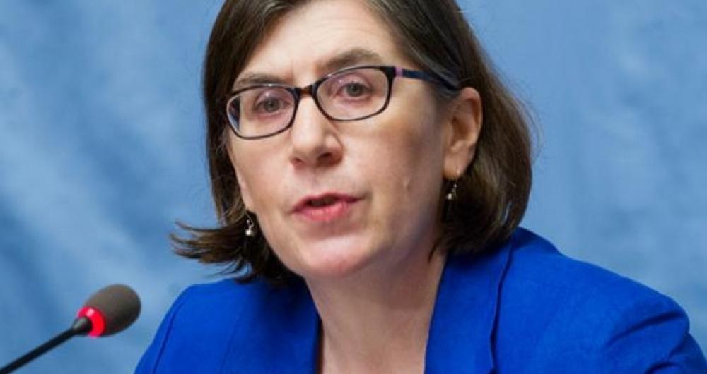 Porta-voz do Escrit�rio dos Direitos Humanos DA ONU, Liz Throssel