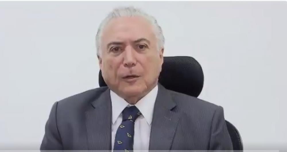 Em vídeo, Temer diz que governo decretou intervenção no Rio de Janeiro para acabar com banditismo desenfreado e forças das organizações criminosas.