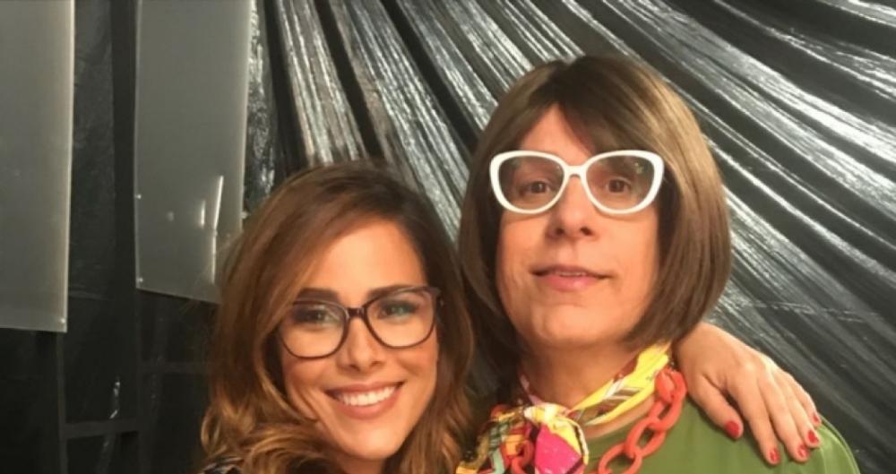 Wanessa Camargo e Tom Cavalcante gravando o programa 'Dra. Darci'