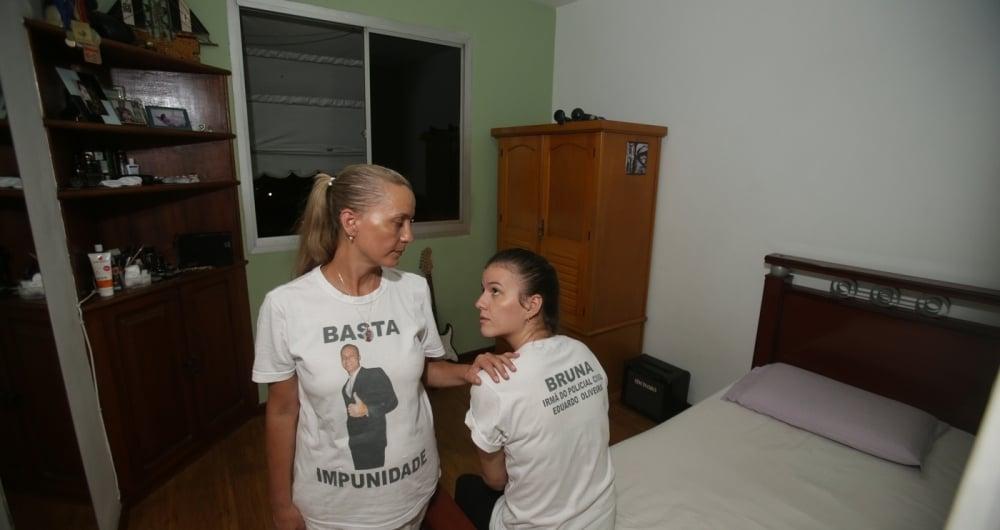Rose Vieira, m�e de Eduardo, e a irm� Bruna Vieira viraram amigas de Marielle ap�s o suporte dela no caso