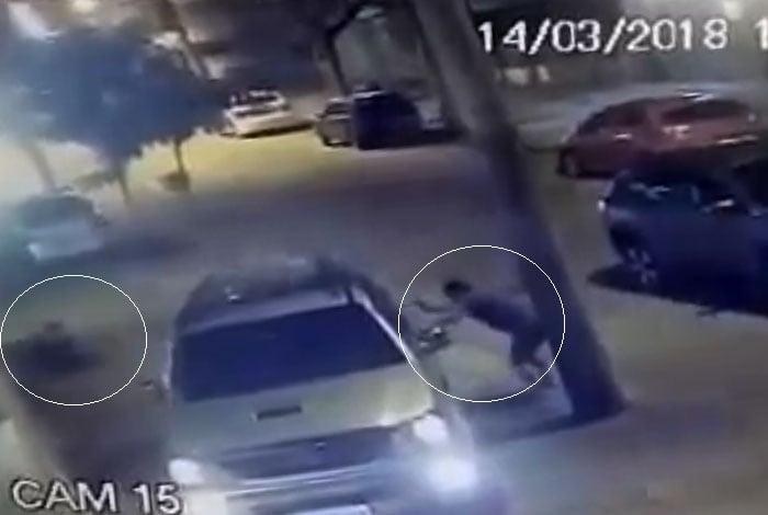 Imagens de segurança das redondezas registraram a tragédia