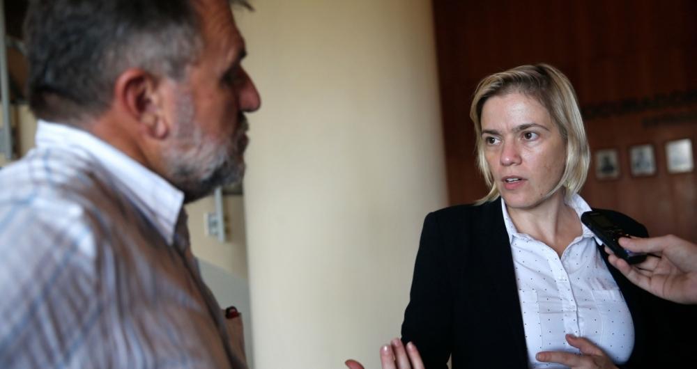 Presidente do CNDH, Fabiana Severo, fala do acompanhamento das investiga��es sobre o caso Marielle Franco
