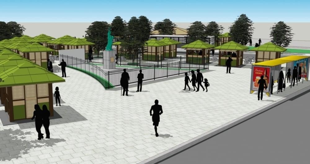 Representa��o da futura pra�a na Vila Kennedy: novo piso e mais lazer