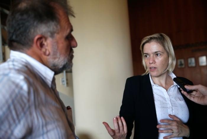 Presidente do CNDH, Fabiana Severo, fala do acompanhamento das investigações sobre o caso Marielle Franco
