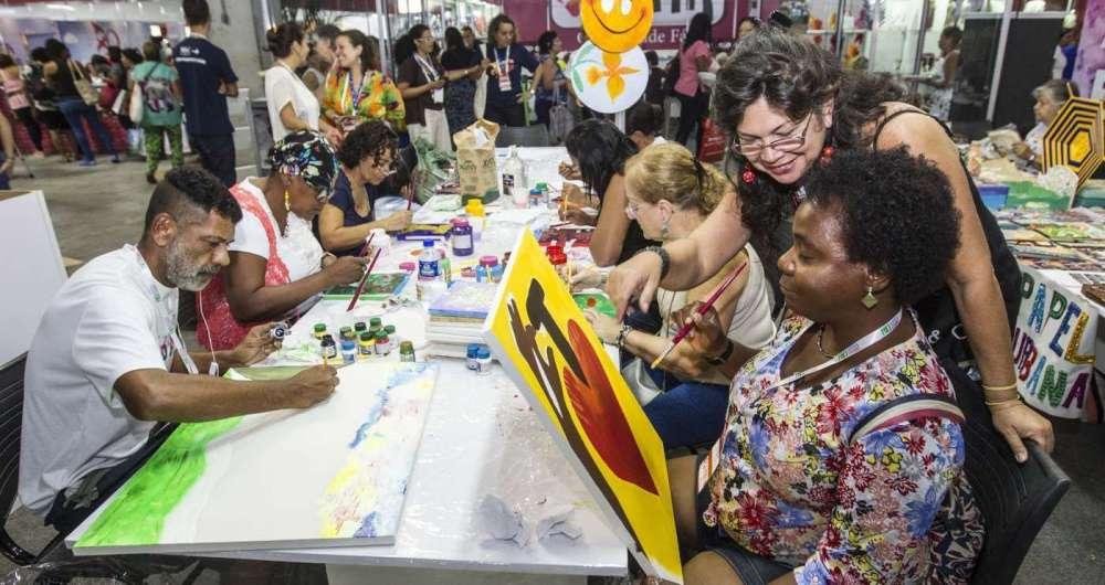 A feira Rio Artes Manuais teve oficinas sobre diferentes técnicas