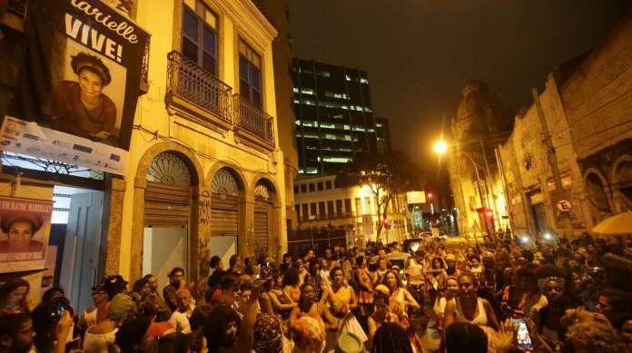 Ato da Casa das Pretas atraiu multid�o para a Lapa, no Centro
