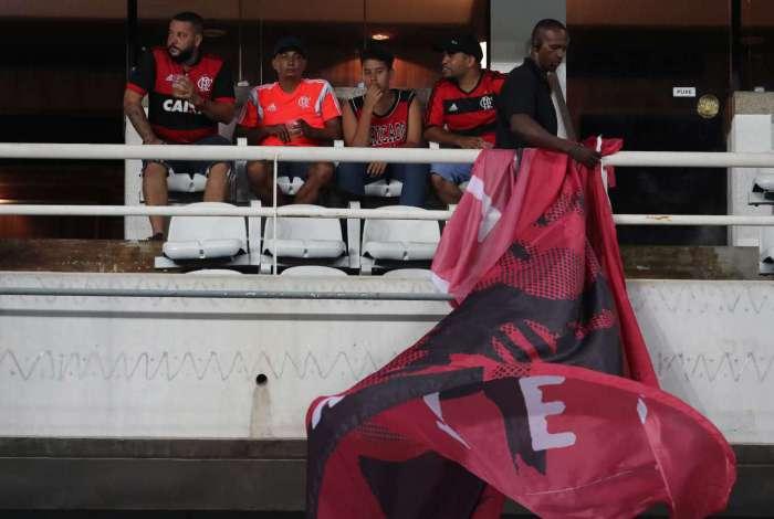 Partida entre Fluminense e Flamengo, no Engenhão