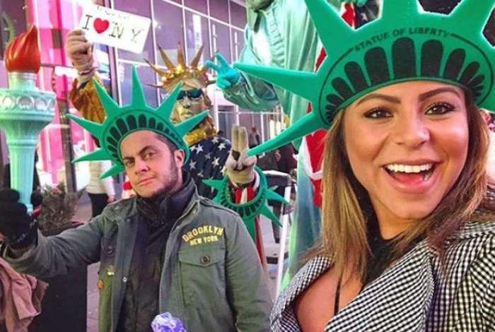 Thammy Miranda e Andressa Ferreira curtem lua de mel em Nova York