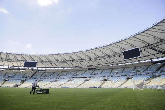 23/03/2018 - FOTOLEGENDA - Gramado do Estádio do Maracanã. Foto: Luciano Belford / Agencia O Dia