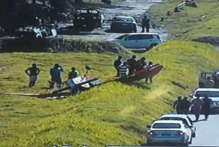Monomotor caiu por volta das 15h20 desta sexta-feira