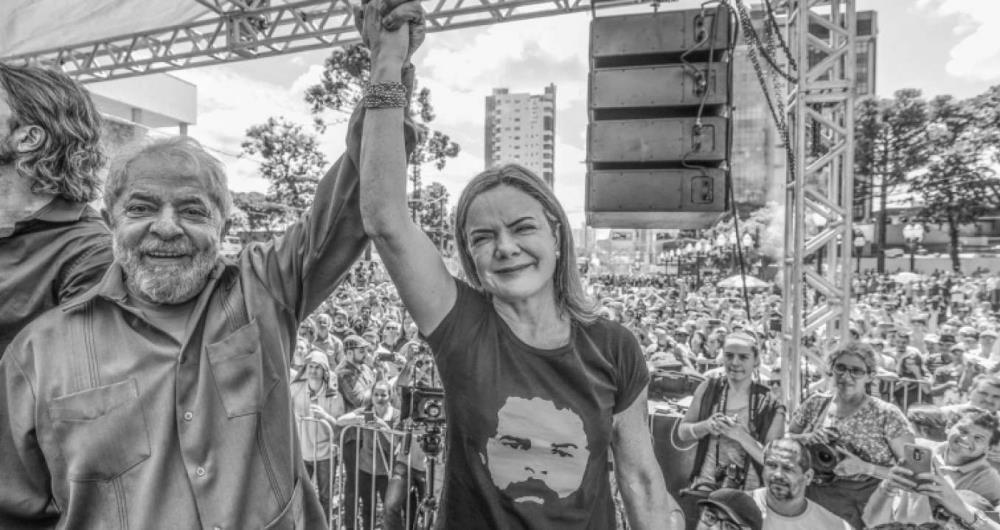 Lula disse que enquanto estiver na cadeia, em Curitiba, quem fala por ele sobre assuntos do partido é a senadora Gleisi Hoffmann (PR), presidente nacional da legenda