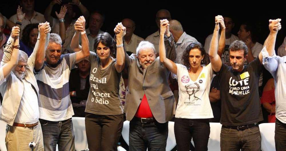 Ato contra fascismo e por justiça para Marielle tem Lula, Manuela, Boulos e Freixo