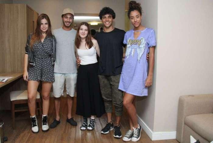 Jennifer Oliveira, Daniel Rangel, André Luiz Frambach, Tom Karabachian, filho de Paulinho Mosca e Maria Fernanda.