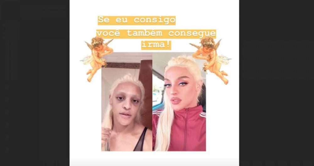 0005d2ff1 Pabllo Vittar surpreende ao mostrar  antes e depois  de maquiagem O ...