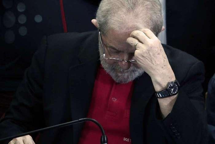 Ex-presidente Lula em coletiva de imprensa, em São Paulo