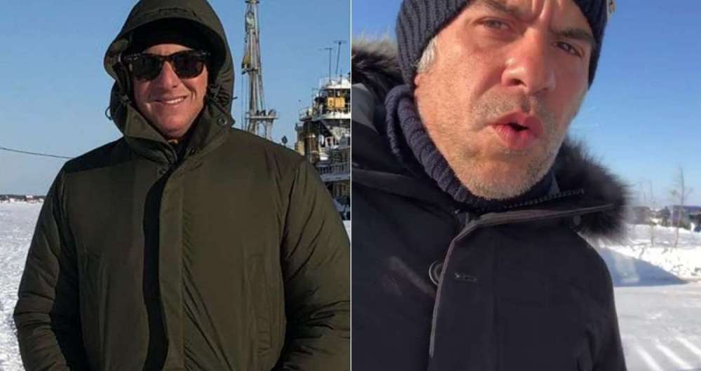 Luciano Huck e Leandro Hassum na Sib�ria, na R�ssia